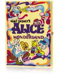 Olympia Le-Tan + Disney&Copy; Alice In Wonderland Embroidered Clutch - Lyst