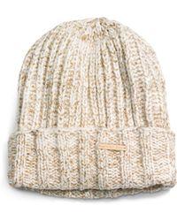 Michael Kors Beige Fisherman-stitch Hat - Lyst