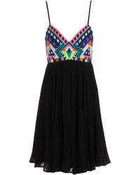 Mara Hoffman Emroidered Mini Dress - Lyst