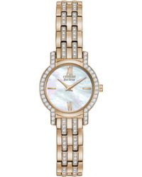 Citizen Women'S Eco-Drive Crystal Accent Rose Gold-Tone Stainless Steel Bracelet Watch 22Mm Ex1243-53D - A Macy'S Exclusive - Lyst