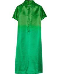 Burberry Prorsum Dã©Gradã© Silk-Satin Dress - Lyst