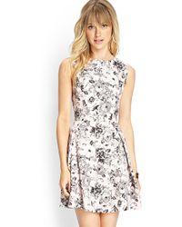 Love 21 Garden Chic A-Line Dress - Lyst
