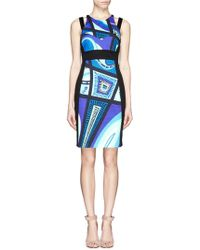 Emilio Pucci Taitu Print Stretch Contour Dress - Lyst