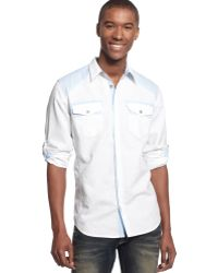Inc International Concepts Long Sleeve Linbray Shirt - Lyst
