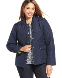 Jones New York Signature Plus Size Quilted Jacket - Lyst