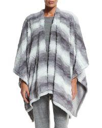 Natori - Reversible Blanket Shawl - Lyst