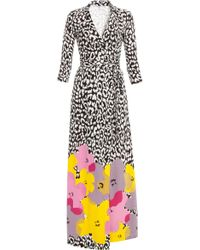 Diane von Furstenberg Pop Wrap Limited Edition Abigail Silk Jersey Wrap Dress multicolor - Lyst