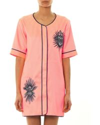 House Of Holland Sacredheart Stripe Baseball Dress - Lyst
