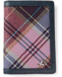 Vivienne Westwood Multicoloured Tartan Insert Wallet - Lyst