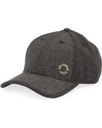 Ben Sherman - Wool-blend Herringbone Baseball Cap - Lyst f7ced2ba642