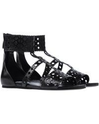 Prada Black Sandals - Lyst