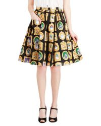 ModCloth Pretty As A Purrtrait Skirt - Lyst