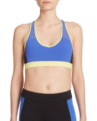 Alo Yoga Chromatic Colorblock Racerback Sports Bra blue - Lyst