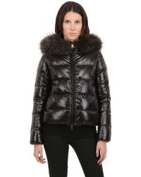 Duvetica Adhara Nylon Down Jacket with Fur - Lyst