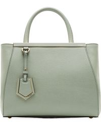 Fendi Small 2Jours Leather Tote - Lyst