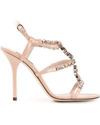 Dolce & Gabbana Embellished Sandals - Lyst