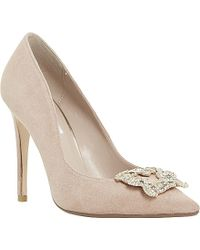 Dune Breanna Jewelled Broche Pointed Toe Courts - Lyst