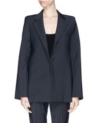 Ellery 'Cyclonic' Wool Suiting A-Line Tuxedo Jacket - Lyst