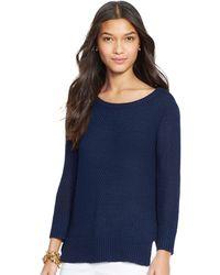 Lauren by Ralph Lauren Crop Sleeved Sweater - Lyst