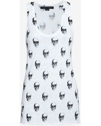 Skull Cashmere - Skull Print Linen Knit Tank - Lyst