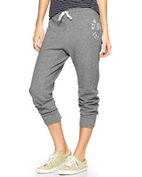 Gap Metallic Logo Cropped Sweats - Lyst