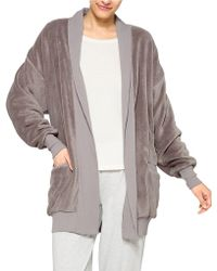 Hue - Fleece Cardigan Robe - Lyst