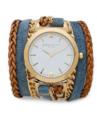 Sara Designs Denim Watch Watch - Denim - Lyst