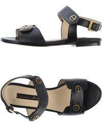 Chrissie Morris Black Sandals - Lyst