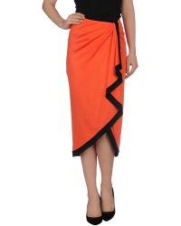 Ralph Lauren 3/4 Length Skirt orange - Lyst