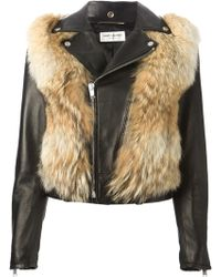 Saint Laurent Biker Jacket - Lyst