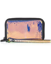 Topshop Womens Holographic Ziparound Wallet  Gold - Lyst