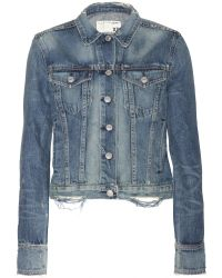 Rag & Bone Blue Denim Jacket - Lyst