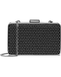 Michael Kors Elsie Micro-stud Leather Box Clutch - Lyst