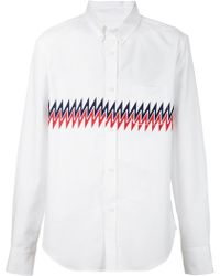 Band of Outsiders Zig Zag Print Button Down Shirt - Lyst