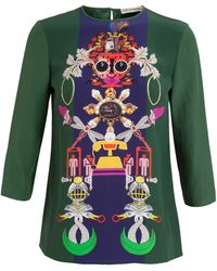 Mary Katrantzou Spellbound Silk Top - Lyst