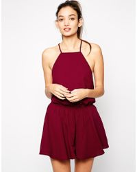The Fifth Front Seat Romper red - Lyst
