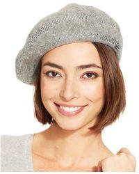Calvin Klein Studded Wool Beret - Lyst
