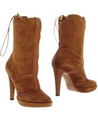 Alberto Guardiani Brown Ankle Boots - Lyst