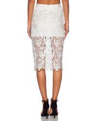 Blaque Label Lace Pencil Skirt - Lyst