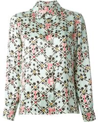 Mary Katrantzou 'Forget Me Not' Blouse - Lyst