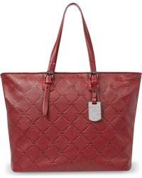 Longchamp Lm Cuir Shoulder Bag in Carmin - Lyst