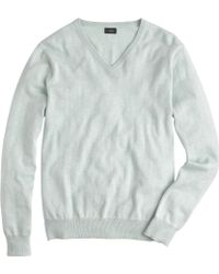 J.Crew Tall Cotton-Cashmere V-Neck Sweater - Lyst