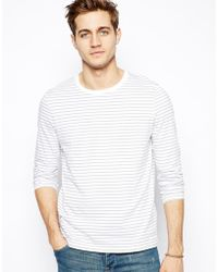 Asos Stripe Long Sleeve T-Shirt - Lyst