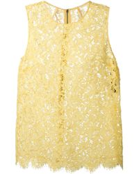 Dolce & Gabbana Sleeveless Lace Top - Lyst