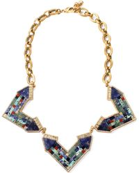 Lulu Frost Petra Statement Necklace gold - Lyst