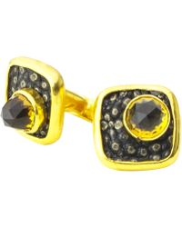 Isabel Englebert - Dandy Bullet Shagreen Cufflinks Gold - Lyst