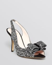 Kate Spade Open Toe Slingback Evening Pumps Charm High Heel - Lyst
