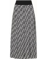 Fendi - Printed Silk-georgette Midi Skirt - Lyst