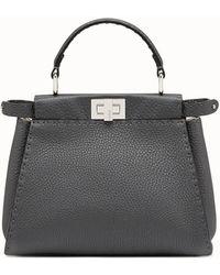 6c1ab4555e Lyst - Fendi Mini Peekaboo Leather Bag, White, One Size in Black