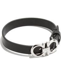 Ferragamo - Gancini Leather Bracelet - Lyst
